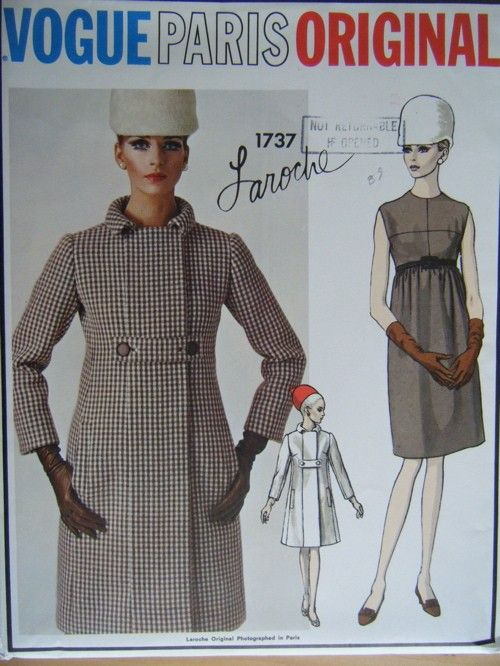Vogue 1737 A | Coats | Pinterest | Kleider, Vintage schnittmuster ...
