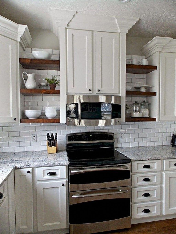 47 Cool Kitchen Decor Open Shelves Ideas kitchenshelving