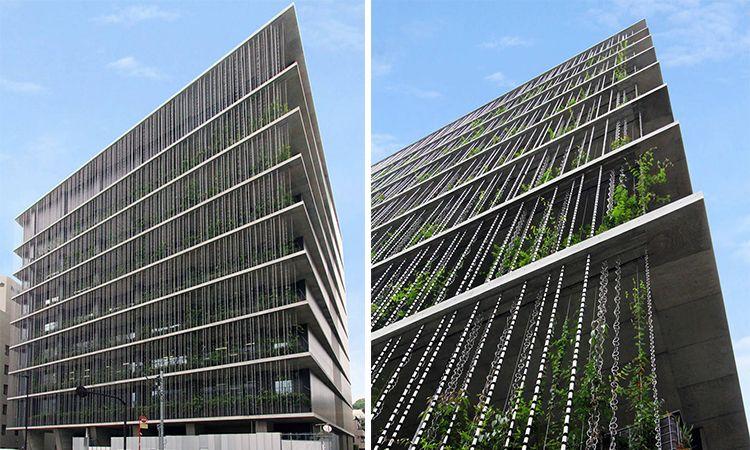 翻轉設計 老智慧x新創意日式 雨鏈 打造建築新風貌 green building architecture architecture building facade architecture
