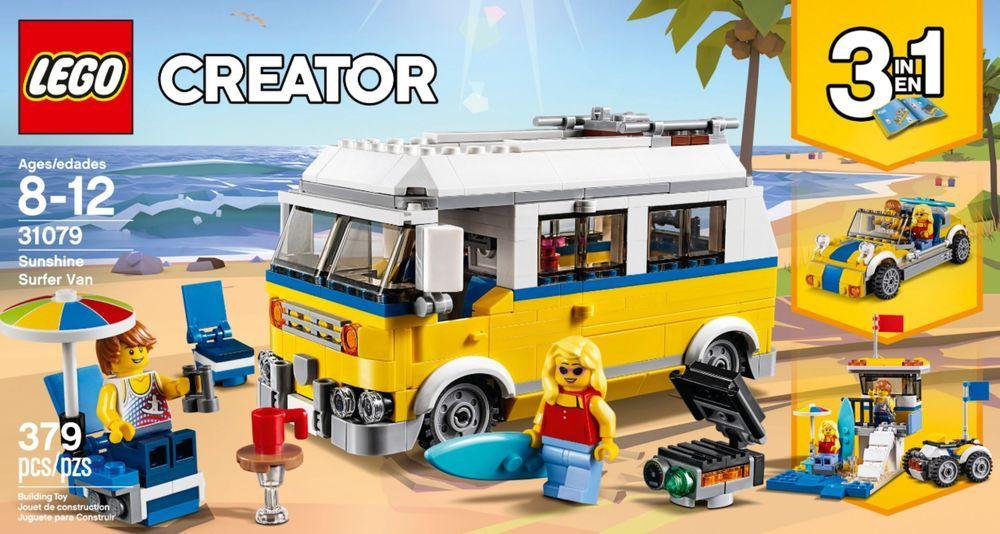 Best Buy Lego Creator 3 In 1 Sunshine Surfer Van 31079 Multi 6213389 In 2020 Lego Creator Lego Shop Lego