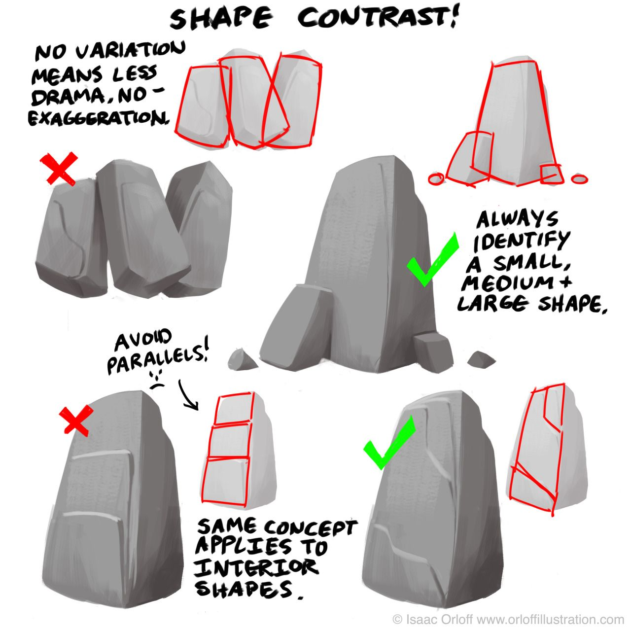 Character Design Shape Theory : Here s a quick breakdown on how to design with contrasting