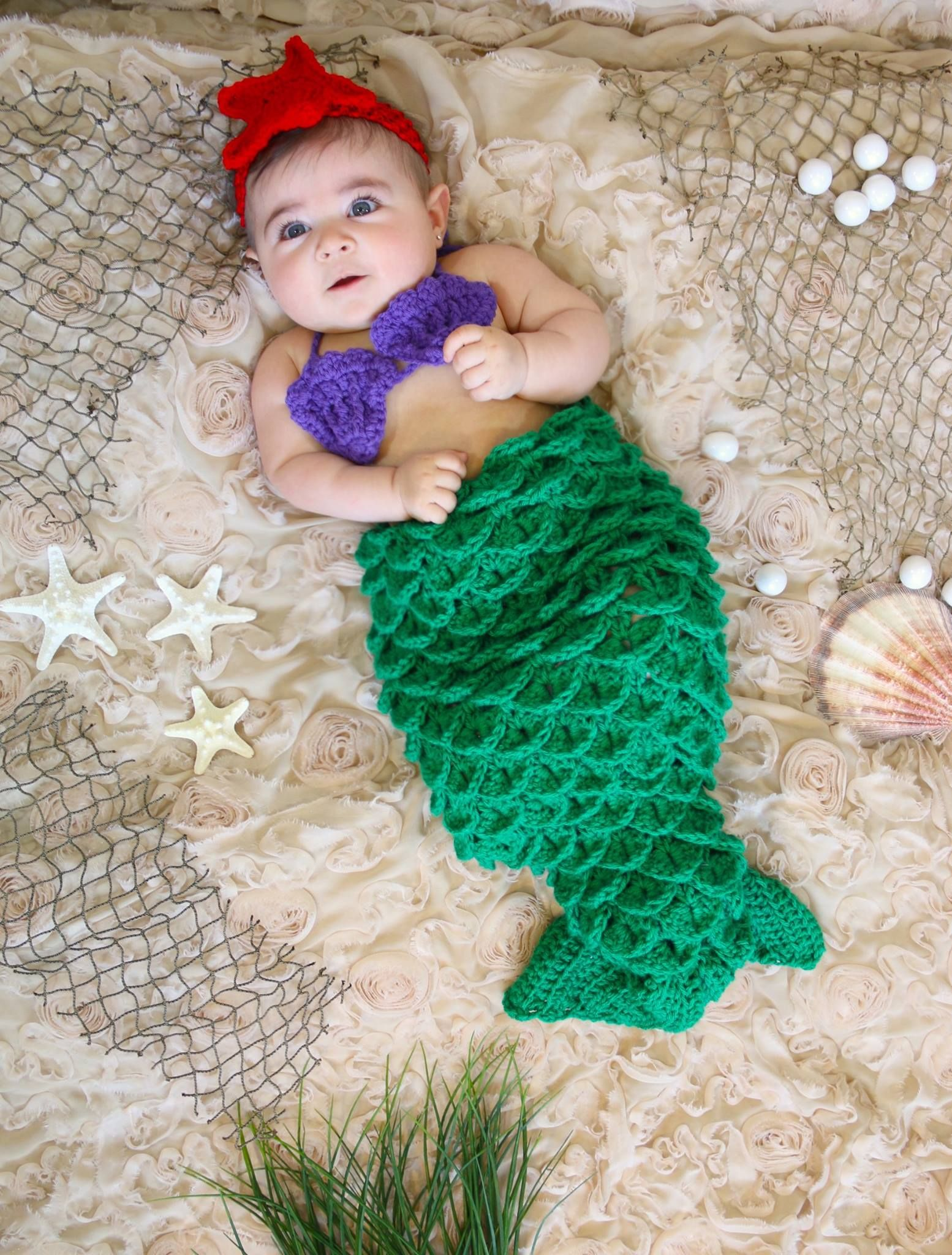 1fbb112857d 5th Photoshoot Baby girl pictures Summer Theme Mermaid