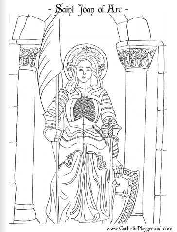 Saint Joan of Arc Catholic coloring