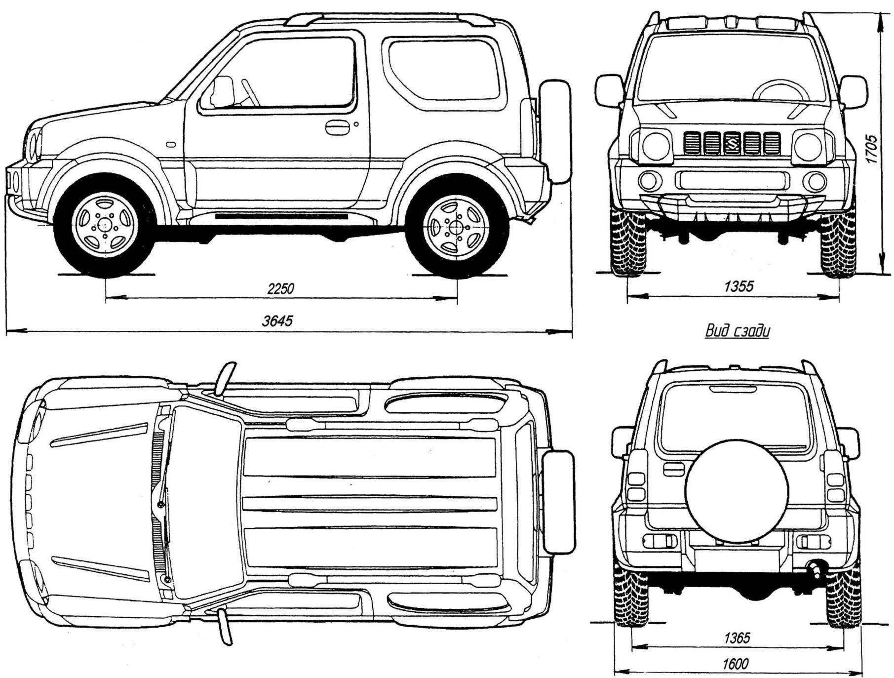 Suzuki Sj Chassis Sumally T 4x4 Scale And