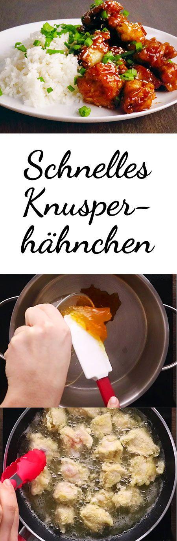 Knusperhähnchen mit Orangensoße - so geht's #chineseorangechicken