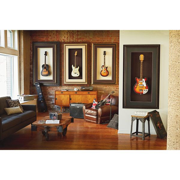 Love these framed guitars! I need a Michael\'s gift card to do some ...