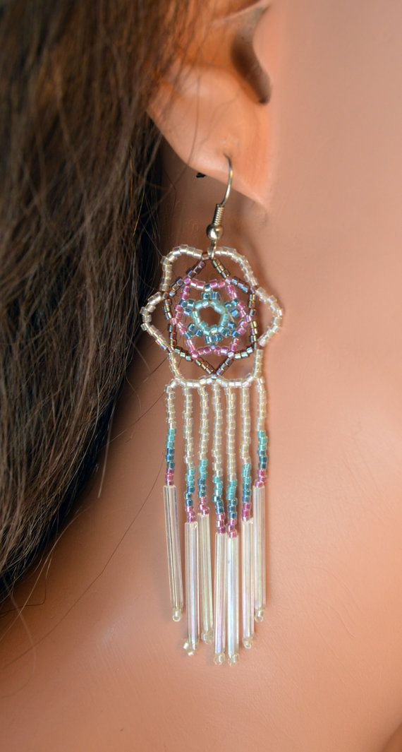 Dream Catcher Earrings  Iridescent and Aurora by SouthwestDreaming