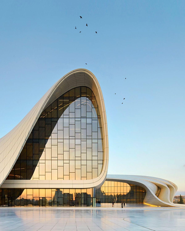 Northskull Inspiration Heydar Aliyev Center In Baku Azerbaijan Designed By Zaha Hadid Northskull Conceptual Architecture Architecture Facade Architecture