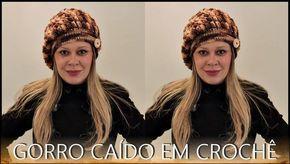 GORRO CAÍDO EM CROCHÊ  DIANE GONÇALVES  6f30035ec72