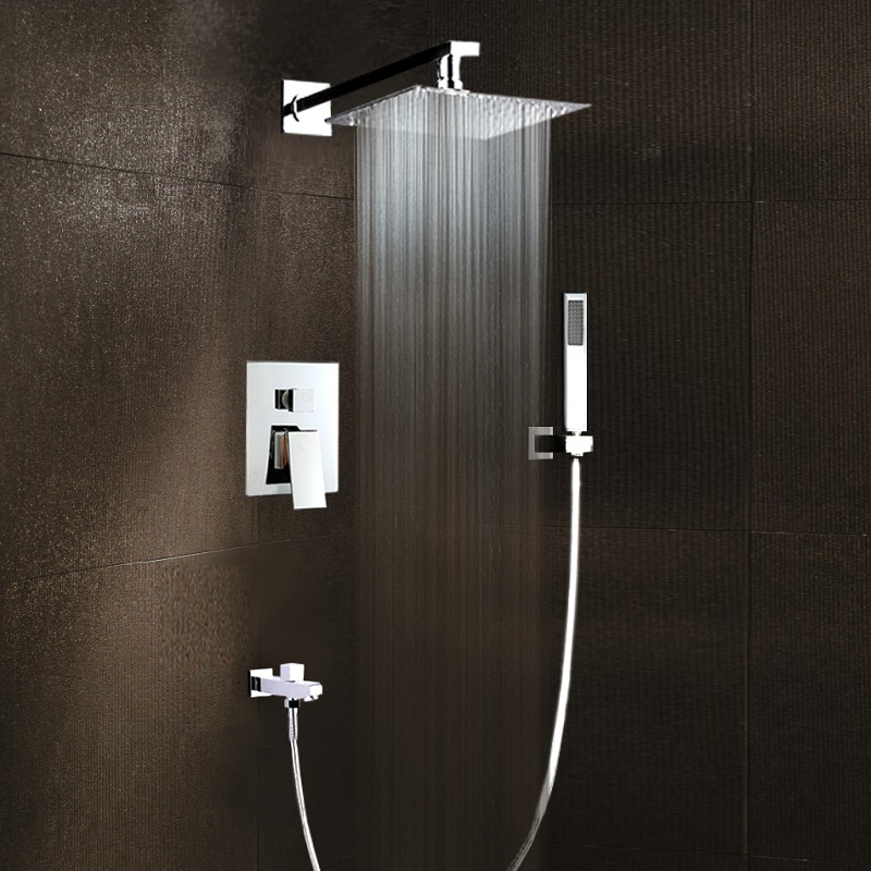 Bathroom Shower Faucet Set Chrome In Wall With Hand Shower In 2020 Bathroom Shower Faucets Shower Faucets Shower Faucet Sets