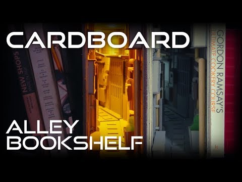 How to Make Alley bookshelf from Cardboard