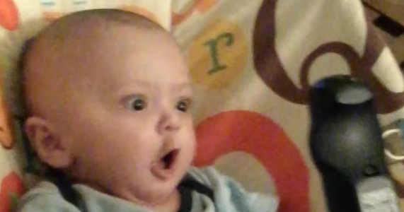 This Baby's Amazement Is Our Biggest Laugh Of The Day.