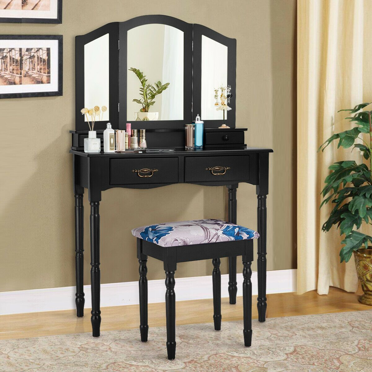 Home in 2020 Vanity mirror, Table stool, Vanity table set