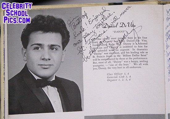 Danny Devito Celebrity School Pic Young Celebrity Pics