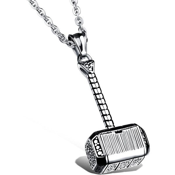 Thors hammer necklaces pendants 2017 necklace men jewelry vintage thors hammer necklaces pendants 2017 necklace men jewelry vintage liked on polyvore aloadofball Image collections