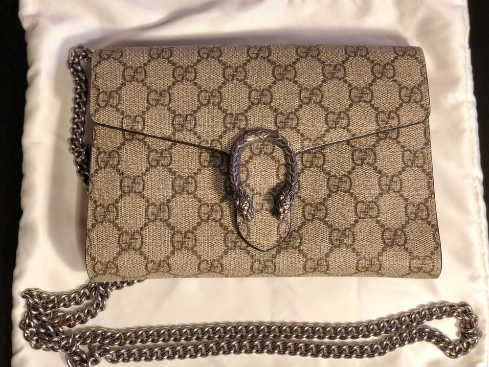 e23960a18 Gucci Dionysus GG Supreme Canvas Wallet on a Chain Beige Ebony/Red #fashion  #clothing #shoes #accessories #womensbagshandbags (ebay link)