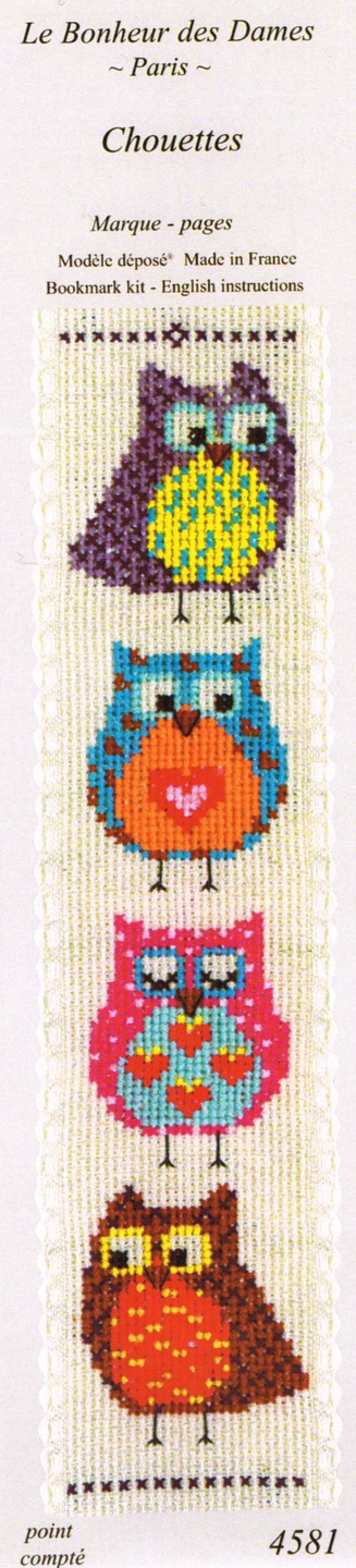 """Kit marque pages """"chouettes"""" 