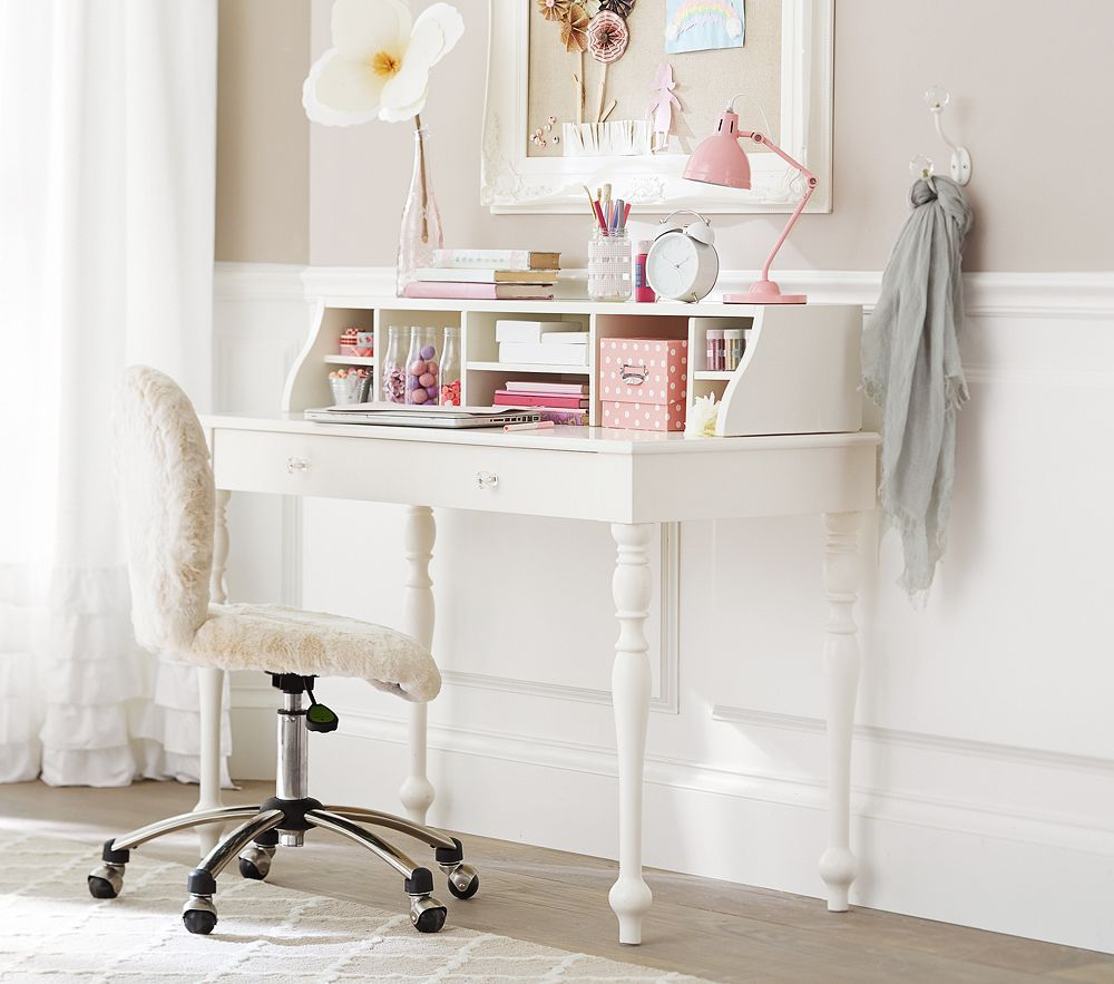 Interesting Ideas For Comfortable Desks With White Wooden ...