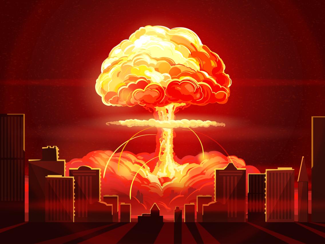 Nuclear Bomb Explosion Blast City Shutterstock 639638614 Nuclear Bomb Explosion Drawing Atomic Bomb