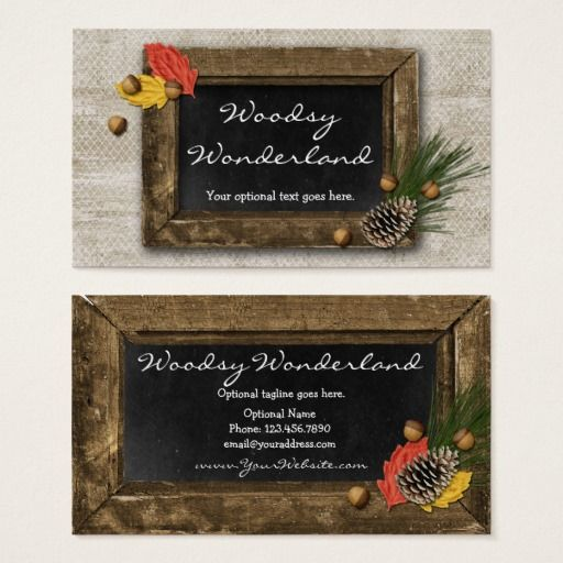 Rustic autumn chalkboard frame woodsy wonderland business card rustic autumn chalkboard frame woodsy wonderland business card vintage branding marketing by cyanskydesign on reheart Images