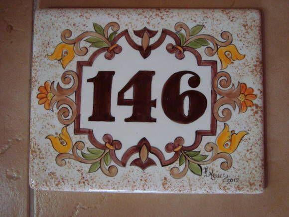 Placa numero para casa sem ferragem placas n meros y pintar for Azulejo numero casa