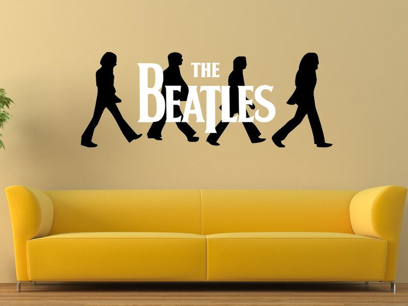 Wall Decal The Beatles Logo Walking Abbey Road Handmade Wall Decor ...