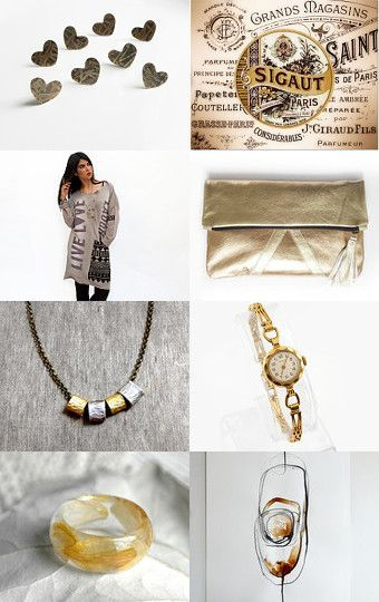 A lot of gold by Fernanda Ibarrola on Etsy--Pinned with TreasuryPin.com