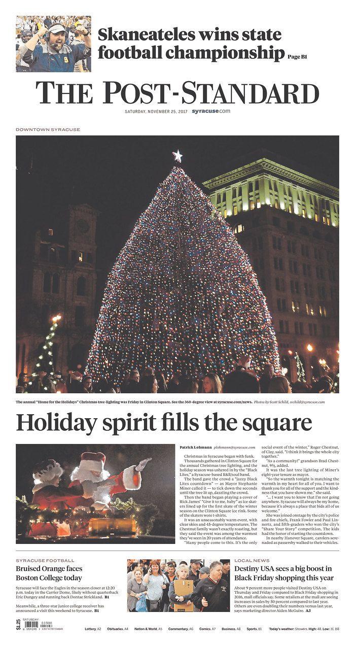 Syracuse Post-Standard 11/25/17