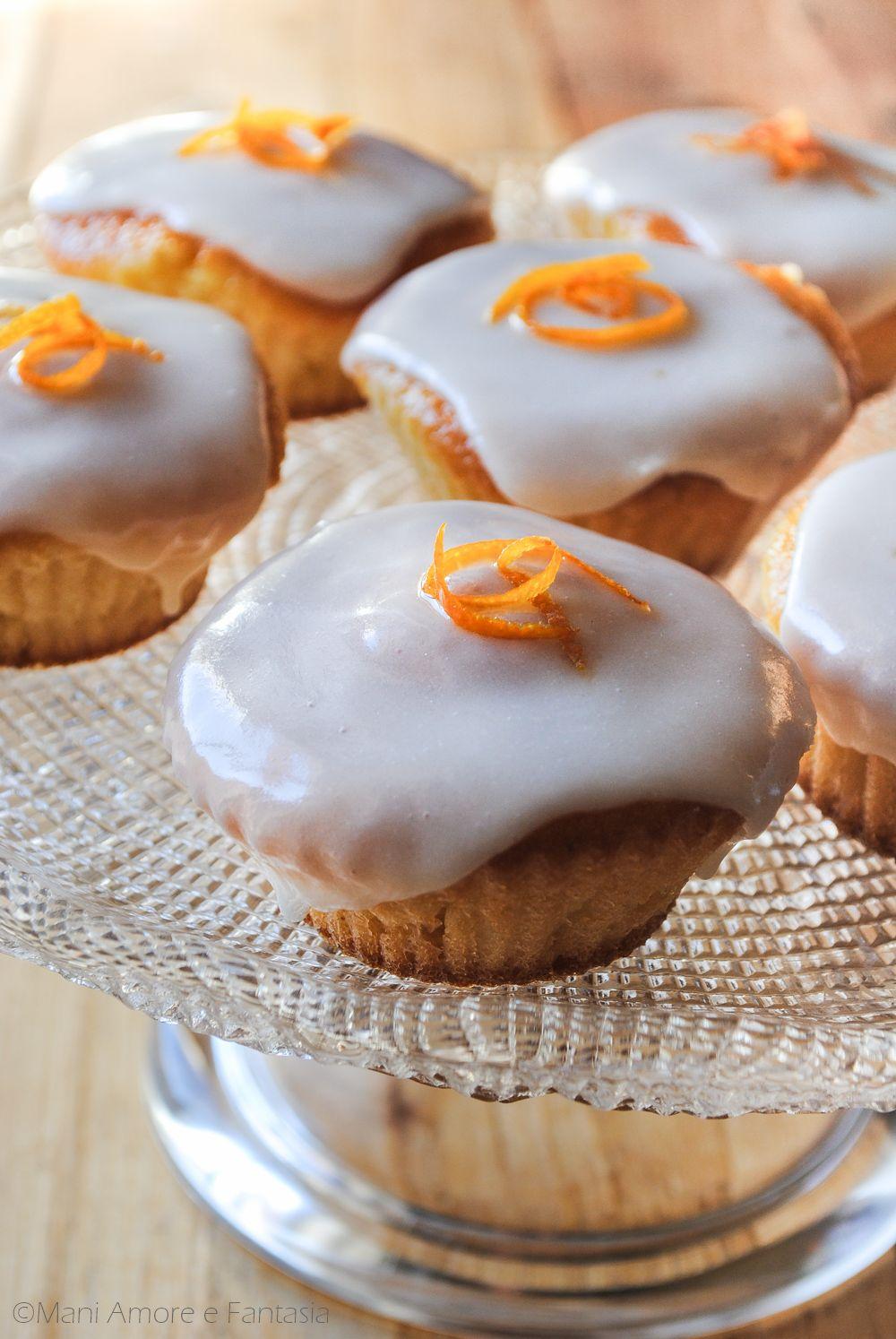 I Cupcake Pan Darancio Con Glassa Sono Piccole Tortine Dolci