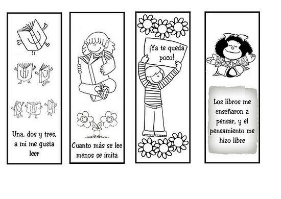 Se acerca el Día del libro y podemos regalar un marcapáginas; aquí ...