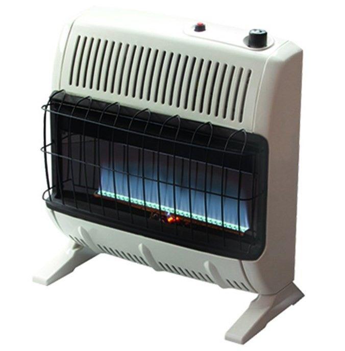 Mr Heater 30 000 Btu Propane Blue Flame Vent Free Heater Mhvfb30tblp Propane Heater Natural Gas Wall Heater Natural Gas Garage Heater