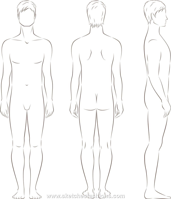 Mens body proportion sketch