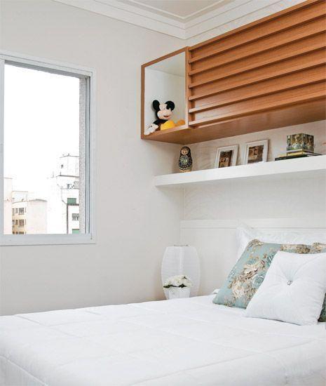 Armario Archivador Persiana ~ Quarto de casal pequeno com armário em cima da cama decoraç u00e3o Pinterest Armários em cima