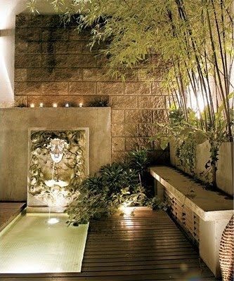 Tinajas para jardin modernas images google search for Iluminacion jardines pequenos