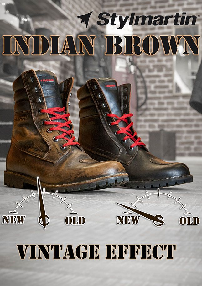 7cbd57acfde3 Stylmartin Indian Boots - Vintage effect ! Motorcycle Fashion