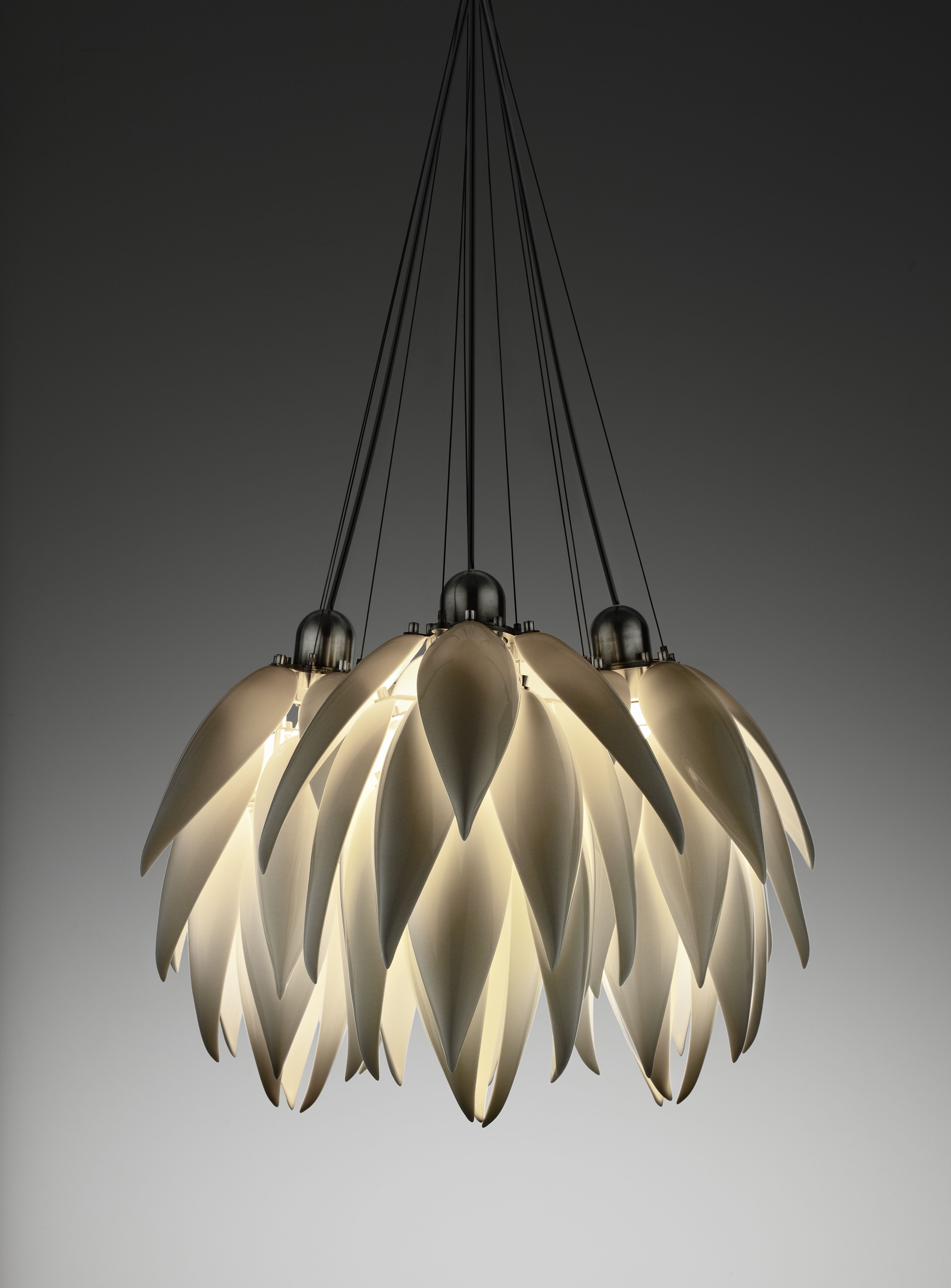 Jeremy Cole Aloe Bud Multi Pendant pendant lighting porcelain