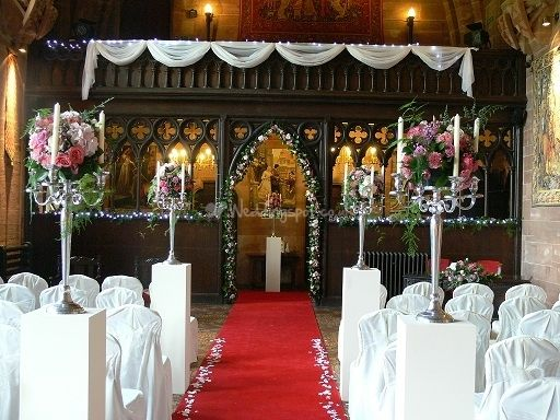 Peckforton Castle From About Flowers Bouquets And Candelabras