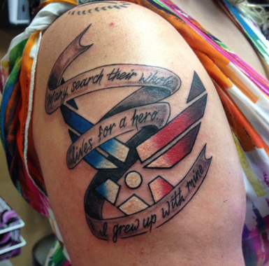 This proud Air Force daughter got this tattoo for her