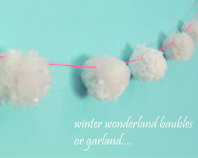 Pom Pom Garland From Recycled Plastic Bags Plastic Bag Crafts