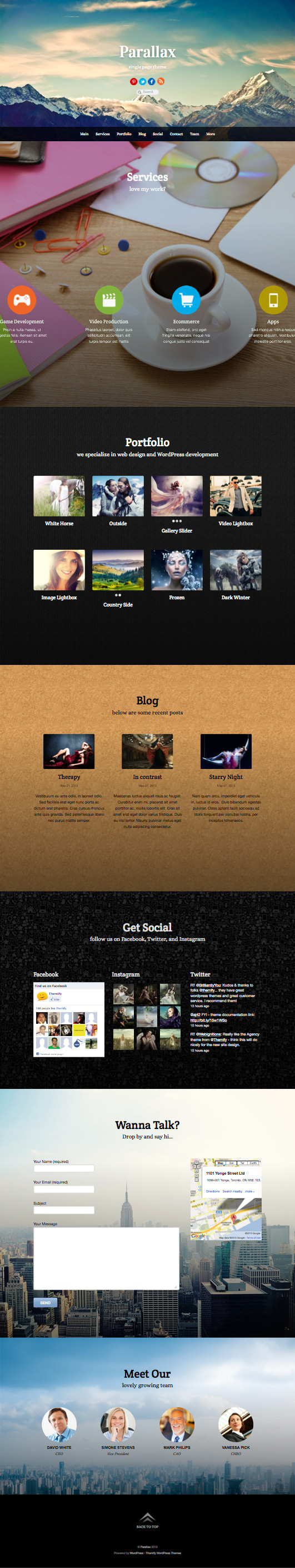 One Page Business Wordpress Theme A Intuitive And Fully Responsive Design Business Websi Business Website Templates Business Wordpress Themes Custom Portfolio