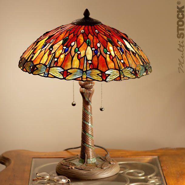 Tiffany Colorées Lampe Libellules Lampes Copie Grandes Belle hQdtxsCrB