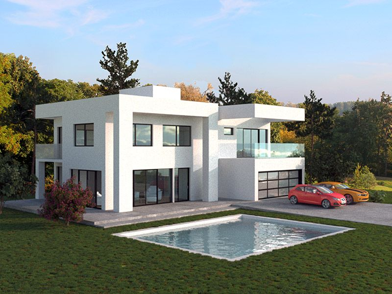 Valeriia O House Styles Landscape Design Small Corona Render
