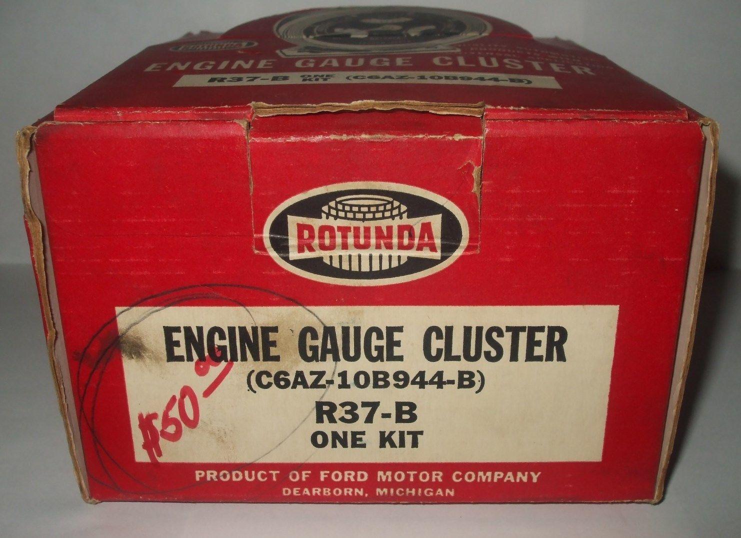 Vintage Original Rotunda R37B Ford C6AZ 10B944 B Gauge Cluster FoMoCo RARE   eBay