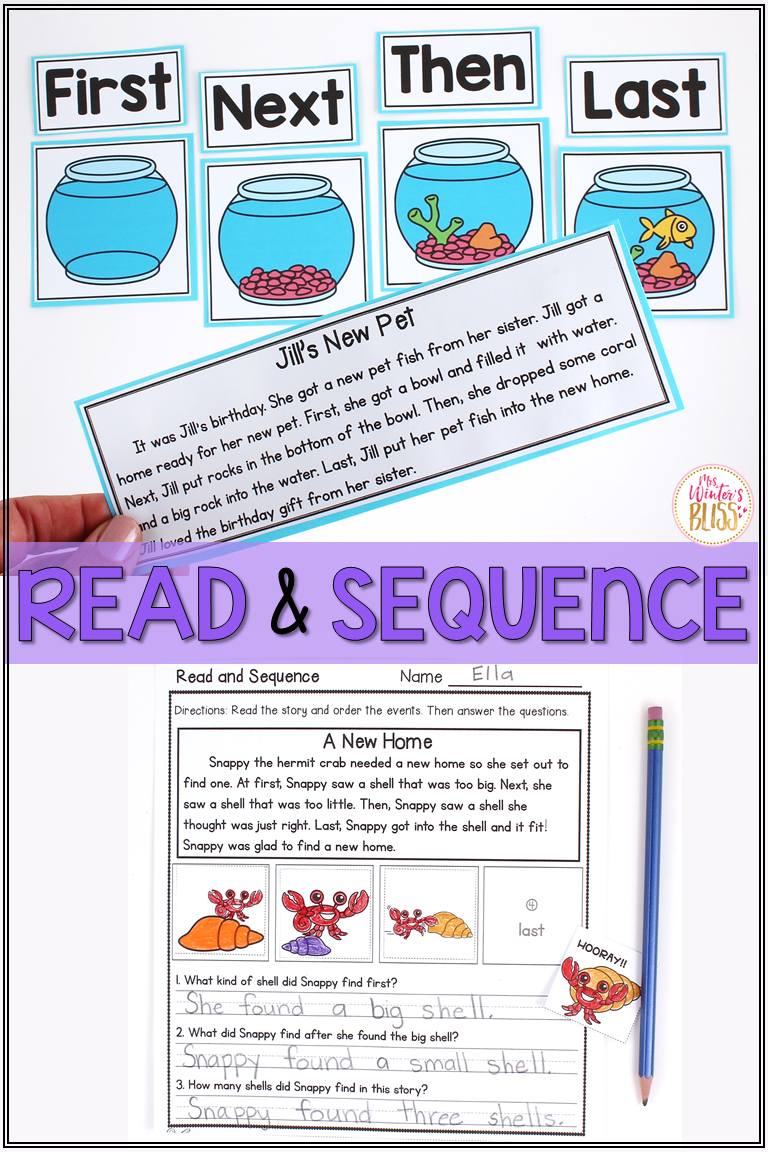 hight resolution of Sequence of events activities perfect for kindergarten