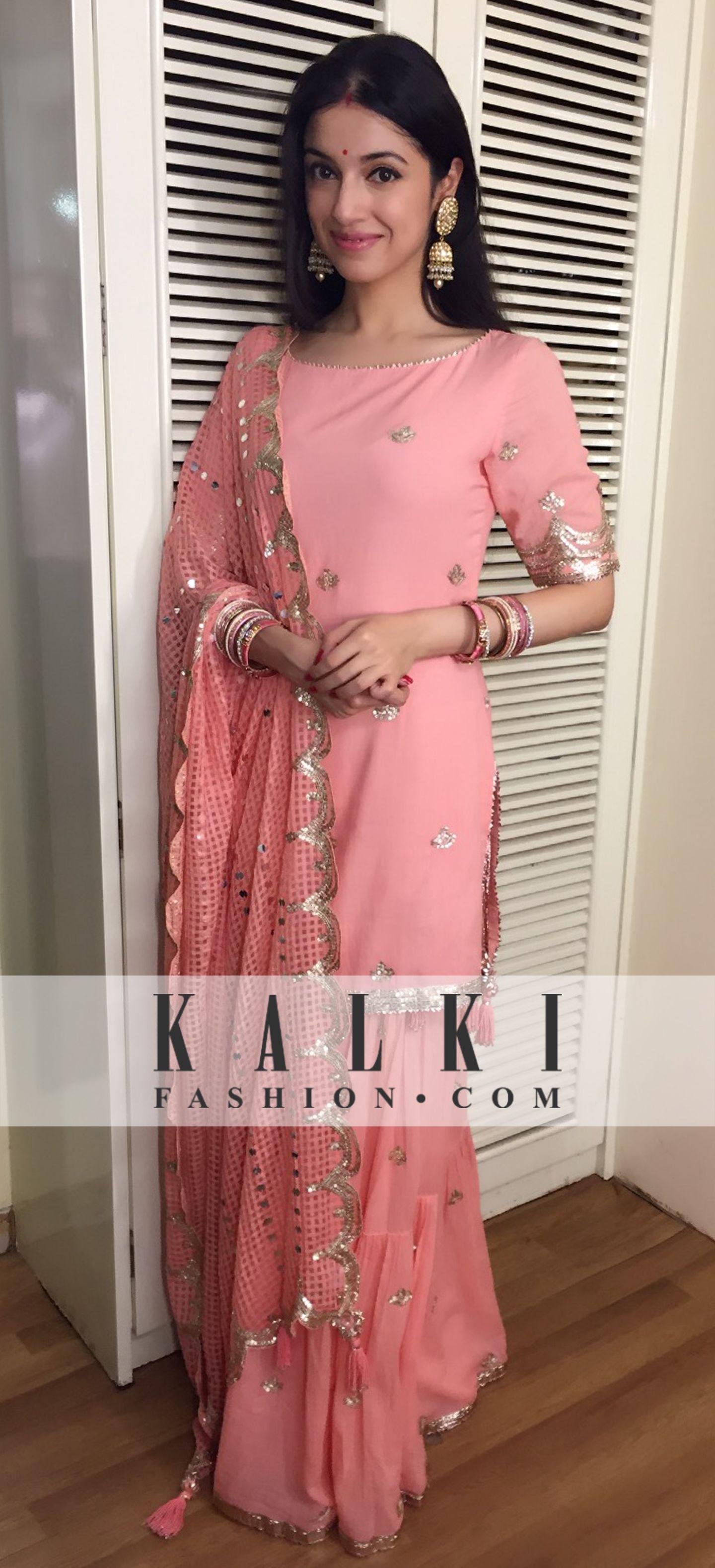 Divya Khosla Kumar: Dressed like a diva in a simple pink salwaar ...