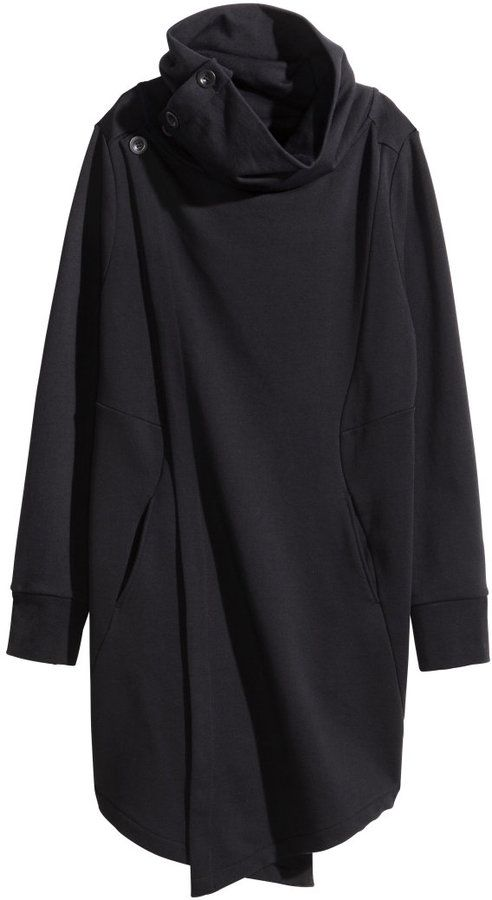 H&M - Long Sweatshirt Cardigan - Black - Men - click to check out ...