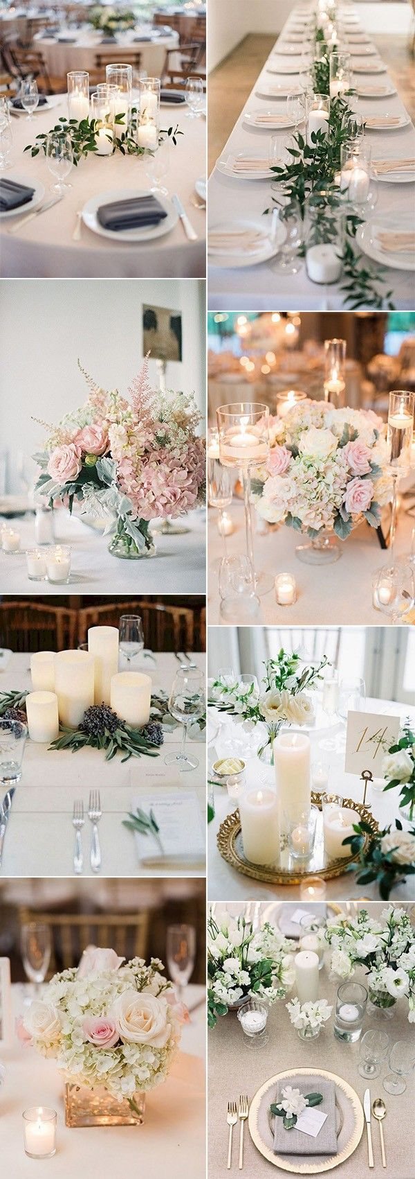 Wedding reception wedding decorations 2018   Elegant Wedding Centerpieces with Candles for  Trends