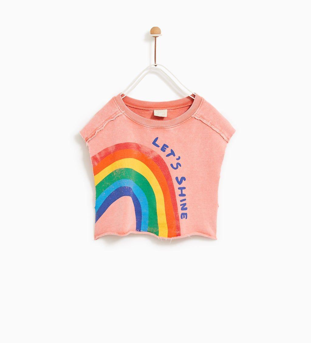 Image 3 Of Rainbow T Shirt From Zara Kleidung Fur Kleine Madchen Madchen Kleidung Modestil