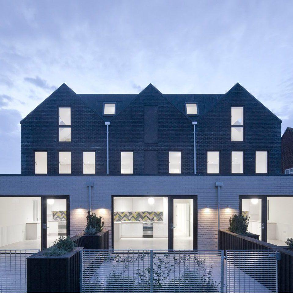 Denizen Works pairs black bricks with pointy panels for H…