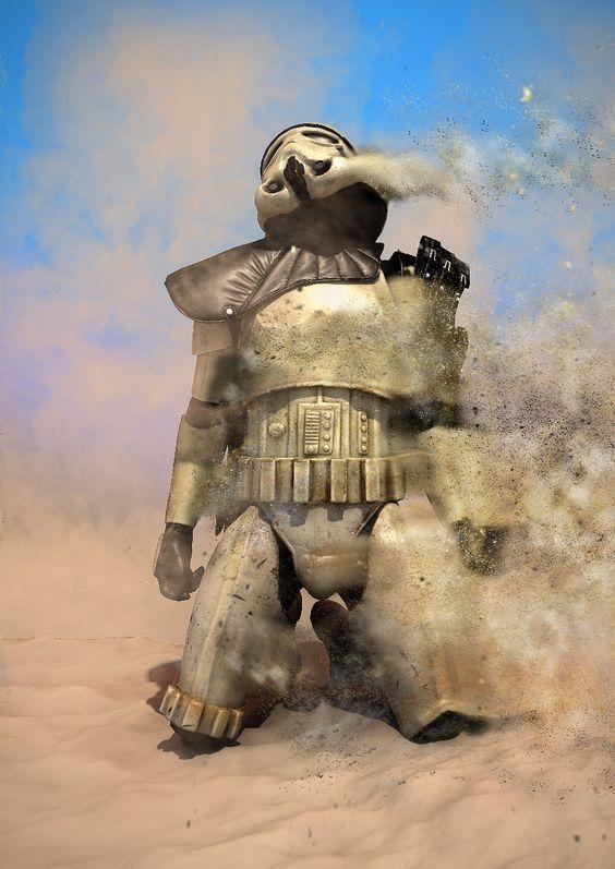 Stormtrooper darth vader star wars art print 7th legion - Paysage star wars ...